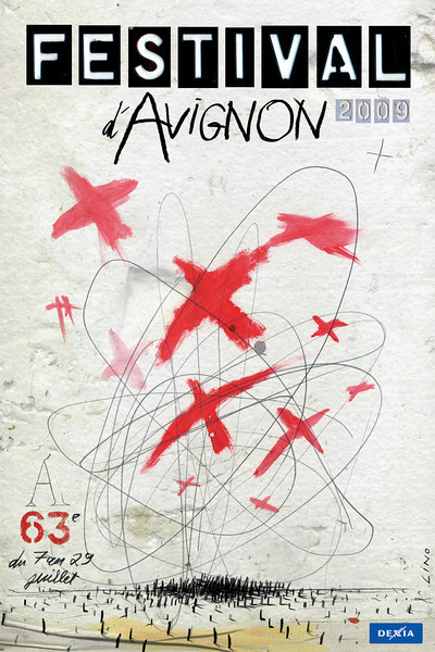 05.LINO Festival d'Avignon Affiche 118 x 195 Offset, 2009