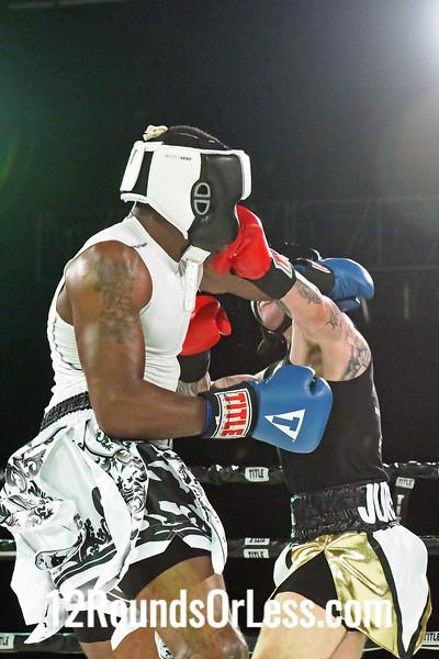 Bout #7:   Christian Juresic (Red Gloves)   vs   Stan Davis (Blue Gloves), 178 Lbs., 3 Rounds