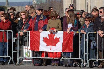 Crowds lining the streets at the 2009 Remembrance Day Ceremony in Ottawa, Ontario.  © Rob Huntley