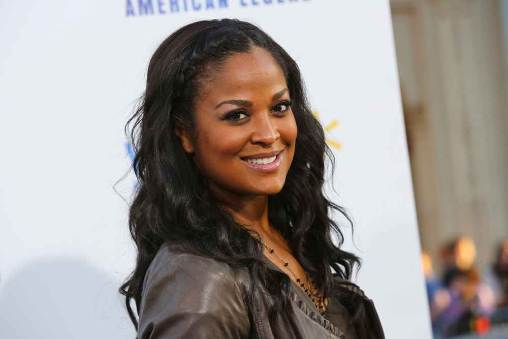 . Former professional boxer Laila Ali attends the premiere of Warner Bros. Pictures\' And Legendary Pictures\' \'42\' at TCL Chinese Theatre on April 9, 2013 in Hollywood, California.  (Photo by Imeh Akpanudosen/Getty Images)