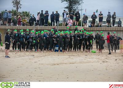 The 2020 PEople's Triathlon - Swim Start