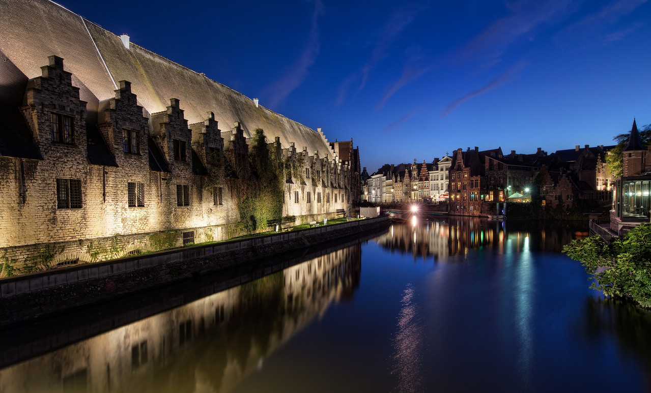 Evening River in Ghent