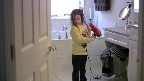 Kate Drying Hair.m4v