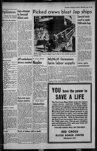 Daily Trojan, Vol. 34, No. 120, April 06, 1943
