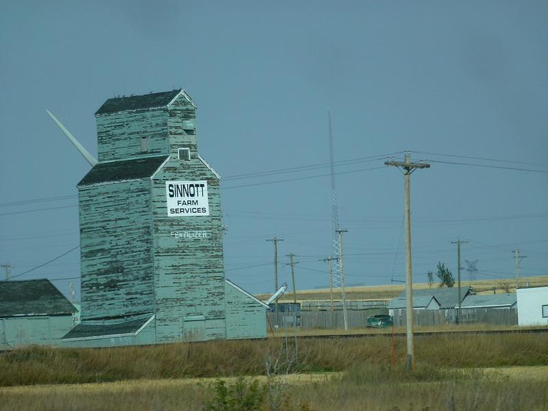 Old grain elevator in Alberta on way to Fort Macleod