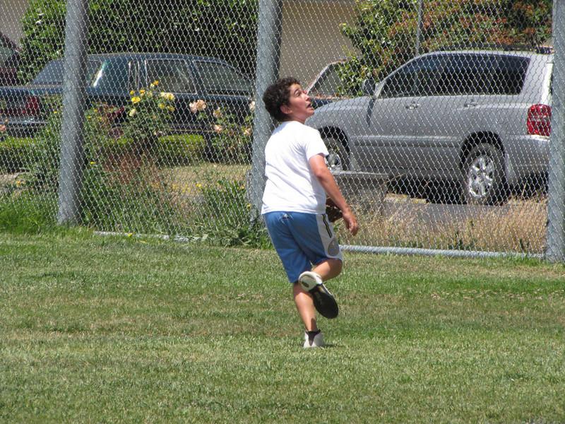 Zack follows a fly ball