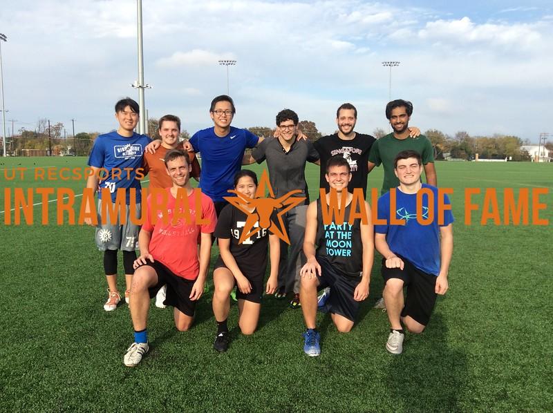 Fall 2017 Ultimate Men's Runner Up Lucky Ducks