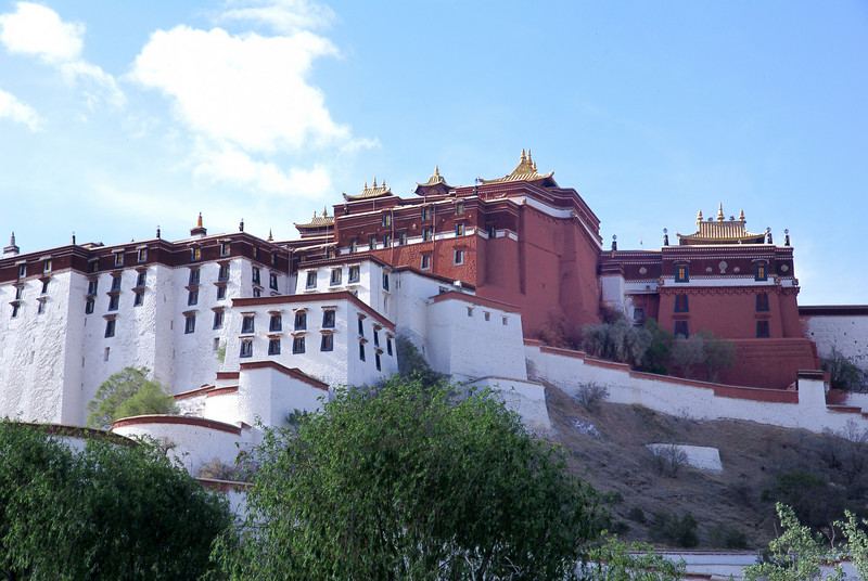 Potala palace from the rear.