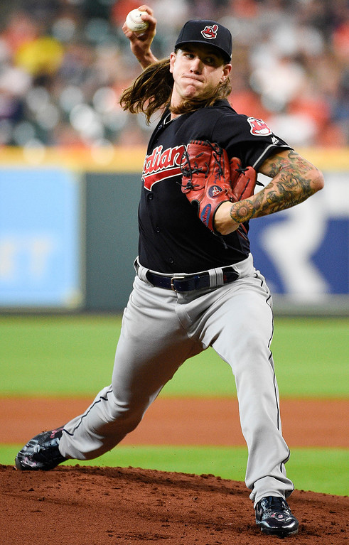 . Cleveland Indians starting pitcher Mike Clevinger delivers during the first inning of the team\'s baseball game against the Houston Astros, Friday, May 18, 2018, in Houston. (AP Photo/Eric Christian Smith)