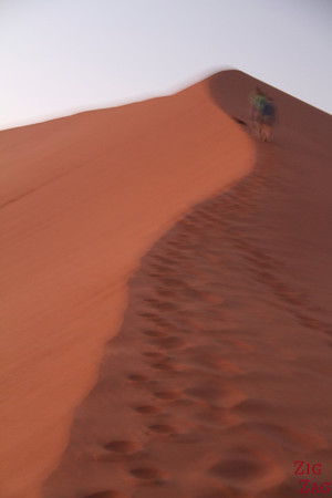 Climbing Dune 45, Sossusvlei, Namibia photo 2