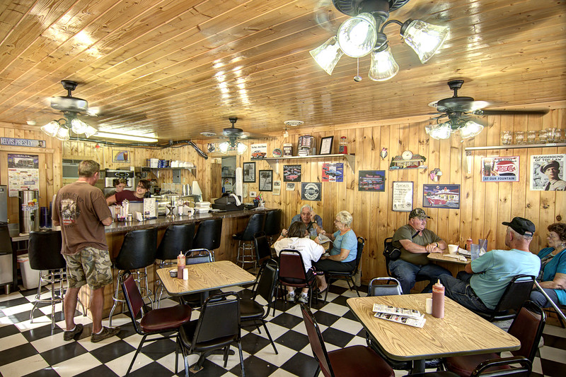 People enjoy lunch at The Dairy Bar in Galax, VA on Saturday, August 10, 2013. Copyright 2013 Jason Barnette