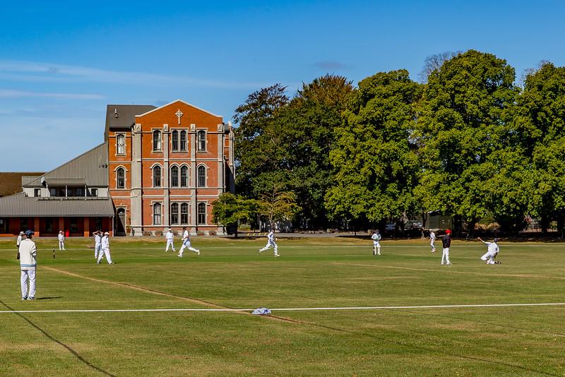 Cricket beim «St. Bede's College» in Christchurch