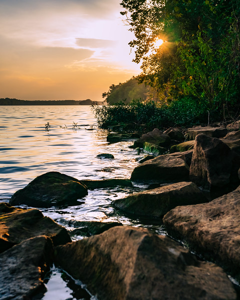 Sunset on the Potomac River in Maryland. Fine Art Landscape photograhy