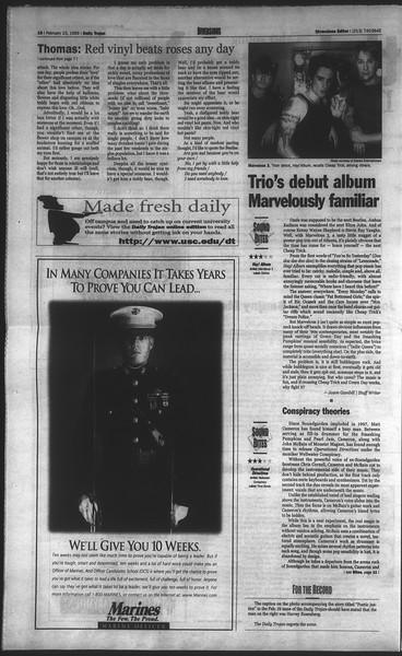 Daily Trojan, Vol. 136, No. 25, February 23, 1999