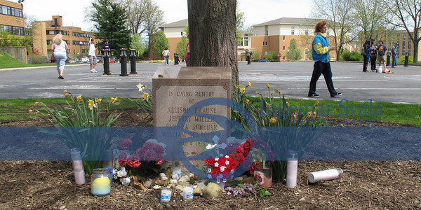 Kent State University, May 7, 2013, 43rd Anniversary for 4 Students killed by Guardsmen