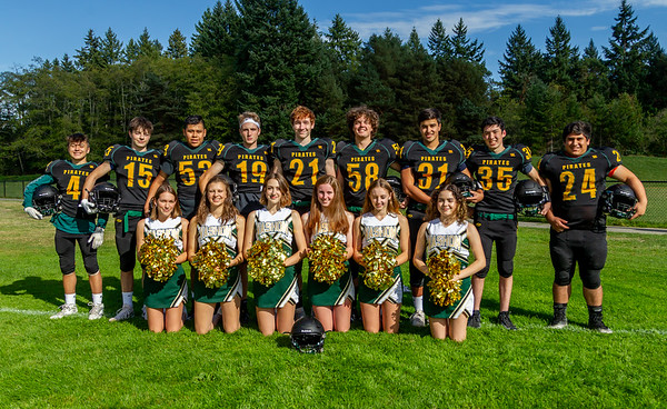 Vashon Island High School Football and Fall Cheer Seniors 2019