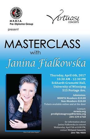 2016-2017 Workshops & Master classes