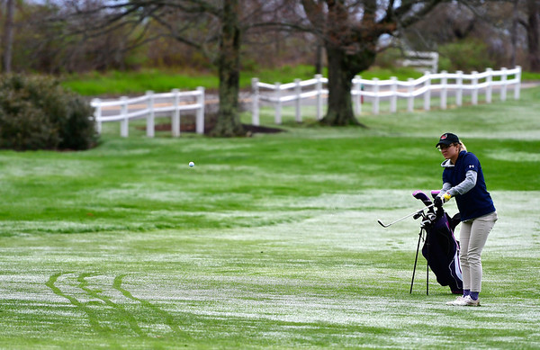 4/30/2019 Mike Orazzi | Staff Bristol Eastern's Olivia Beaudoin during Tuesday's match with Bristol Central at Chippanee Golf Club.