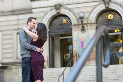 Evan + Val: Engagement Session at Carnegie Library in Oakland