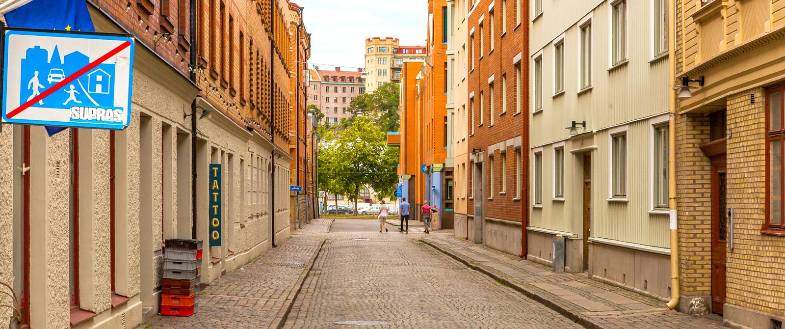 瑞典哥德堡,整潔漂亮的小巷