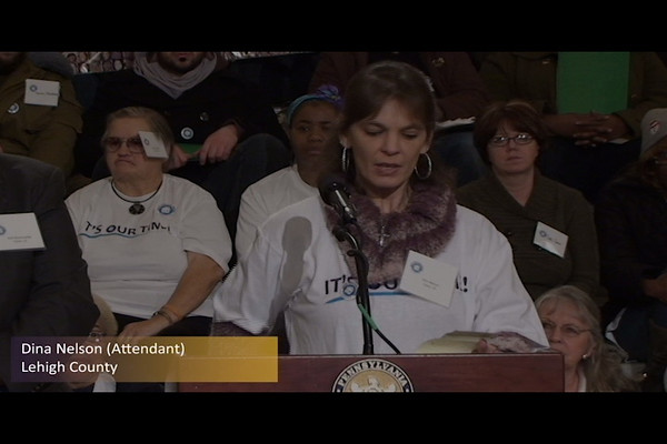 United Home Care Workers of Pennsylvania Press Conference Part 2 of 8 (Dina Nelson - Attendant) - 25 January 2011