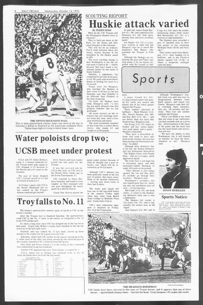 Daily Trojan, Vol. 62, No. 16, October 14, 1970