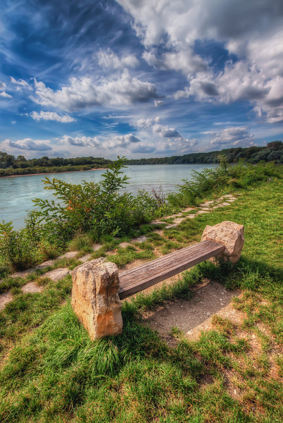 Stone Bench by Danube You can find this bench right bellow the Devin castle ruins near Bratislava.
