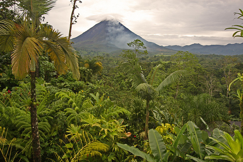 Arenal Volcano from cloud forest, La Fortuna, Costa Rica