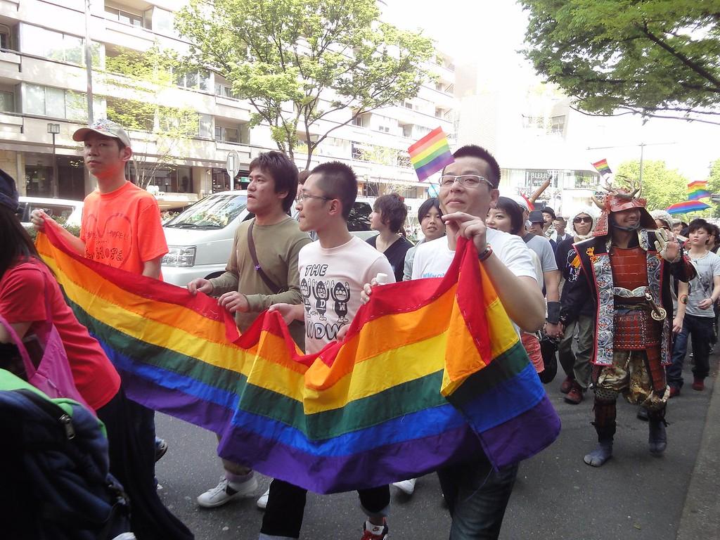 A parade during Tokyo Rainbow Pride.