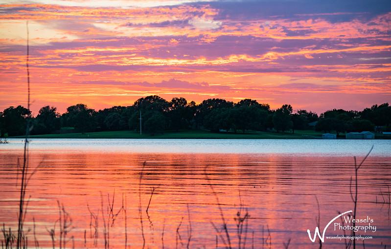 Little Elm Sunset - 9Aug16