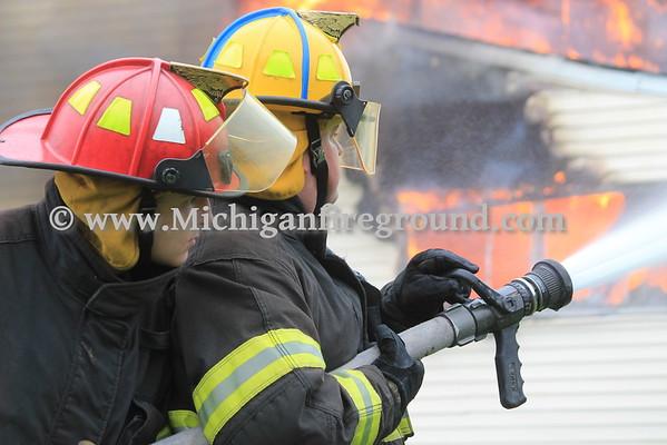 5/1/16 - Dansville live burn training exercise, 3255 Swan Rd