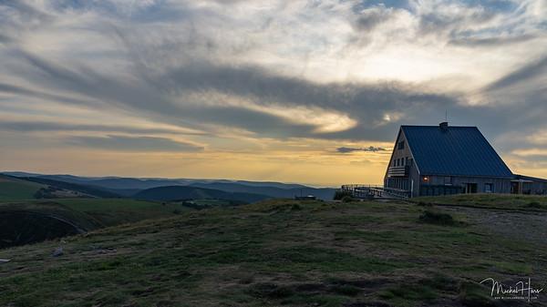 Coucher de soleil sur le Hohneck (Vosges)