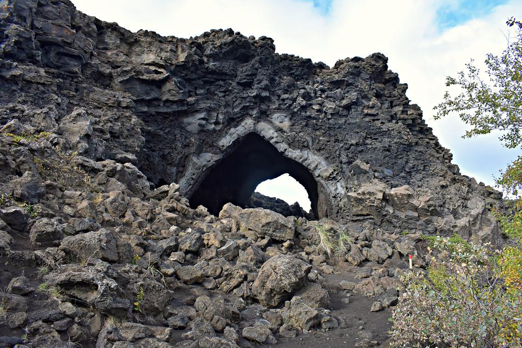 Dimmuborgir lava field in Iceland