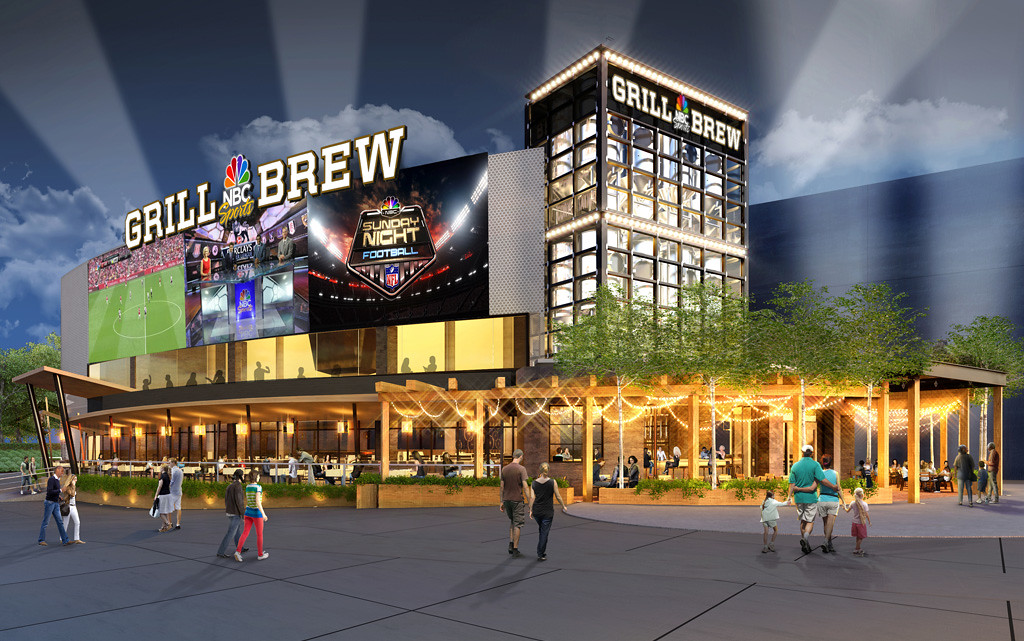 NBC SPORTS GRILL & BREW at Universal CityWalk Orlando mimics Disney's ESPN ZONE concept