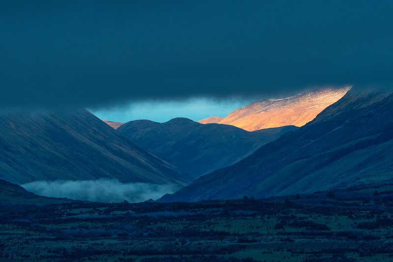 Sunlit Patch of Southern Alps