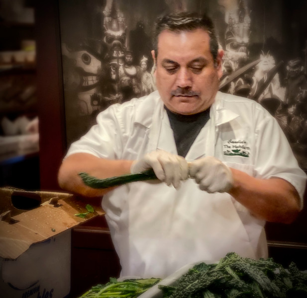 Herbfarm dishwasher and food-prep cook Candido Hernandez