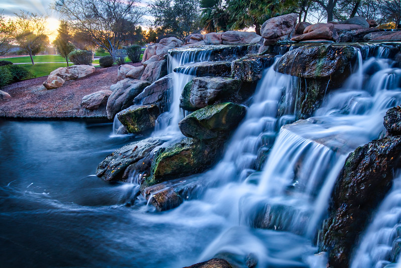 Water Fall with Sunset at Anthem Arizona Final.jpg
