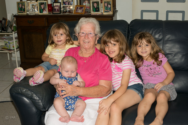 Paige, Michael, Gran, Emma and Katy