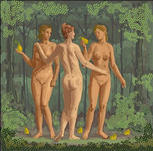 The Three Graces. (Gaussian blur applied for better viewing on display)