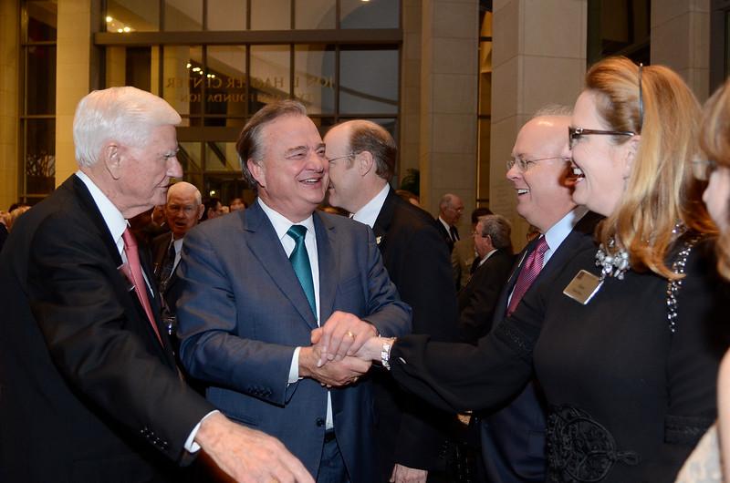 Doug Pitcock Jr. '49, John Sharp '72, Karl Rove, Karen Rove
