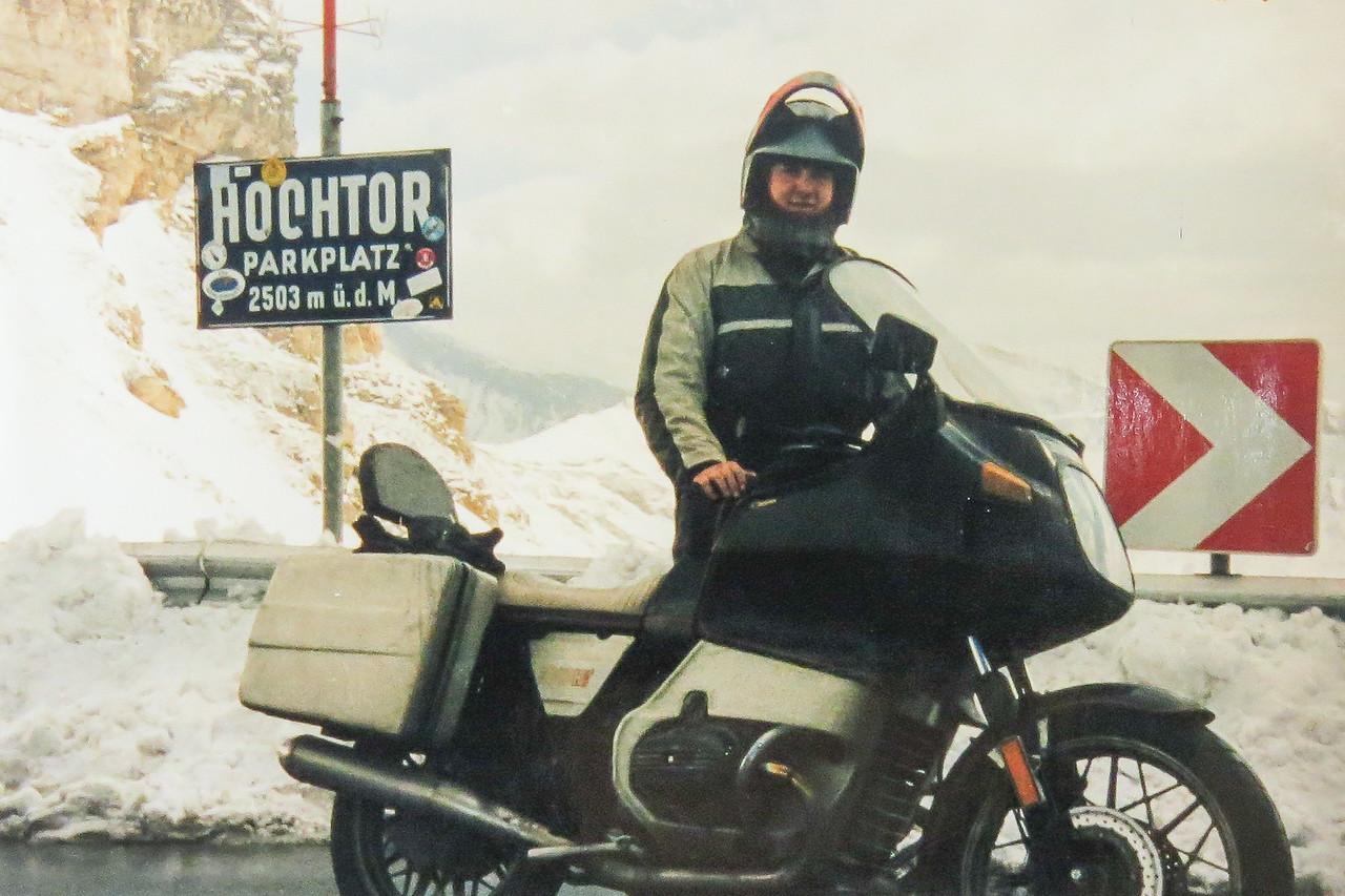 1987 M'n tweede BMW R100RT. Oktobertrip, Oostenrijk, 4 dagen, 2700 Km