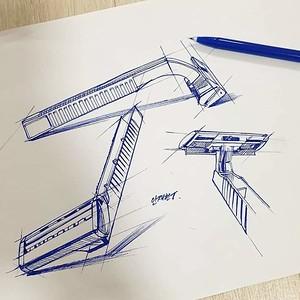 Industrial design illustrations