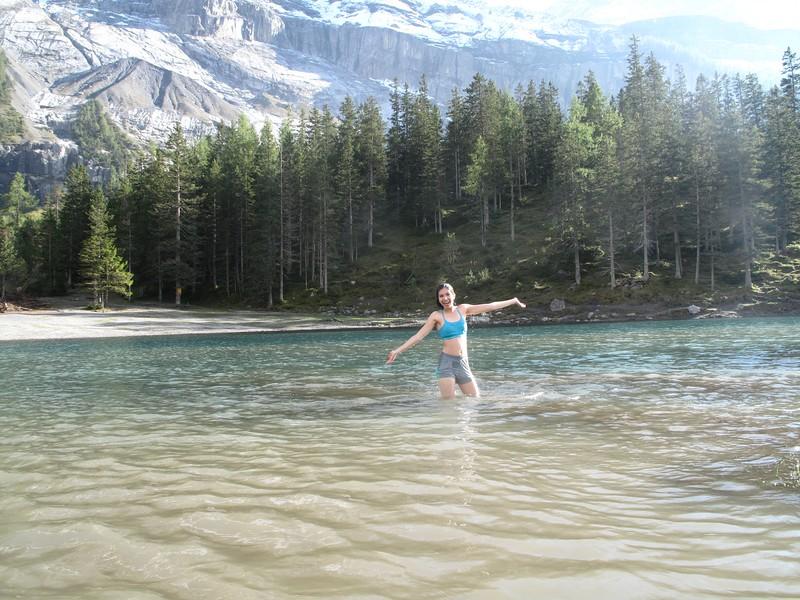 Heba enjoying the water