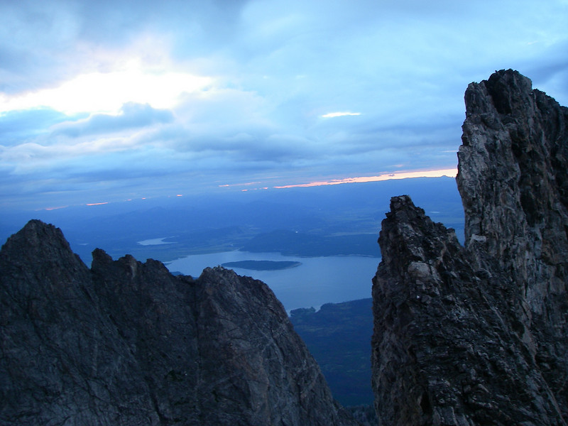 We woke up at about 4am on Friday August 13th and started to scramble through steep terrain at about 4:30am.