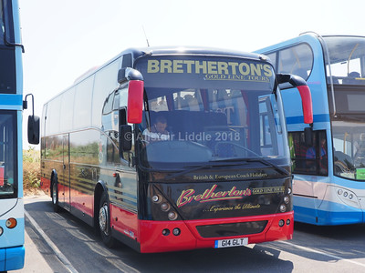 Buses and Coaches parked in St. Annes 05/07/2018