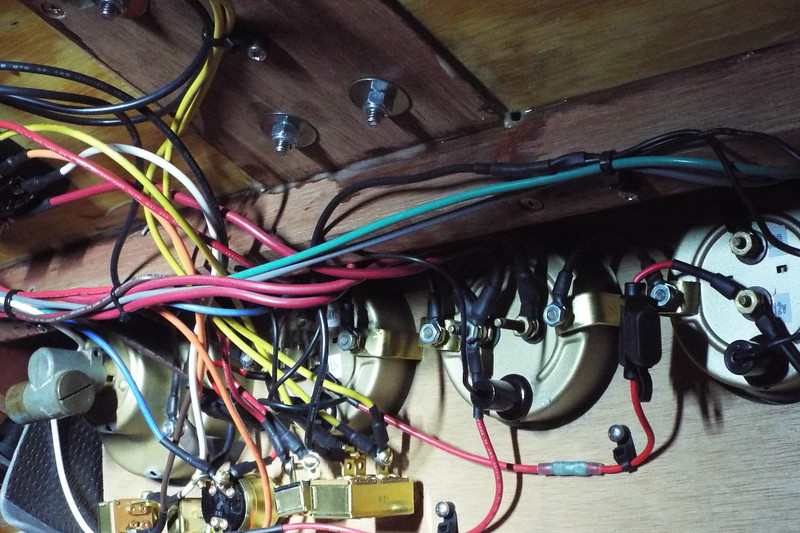 Another view of the completed wiring.