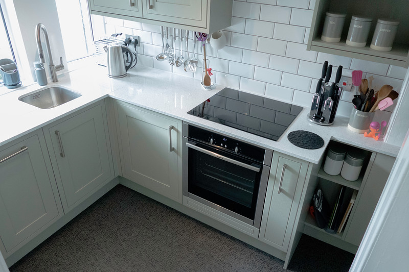 Small kitchen can still be practical and beautiful
