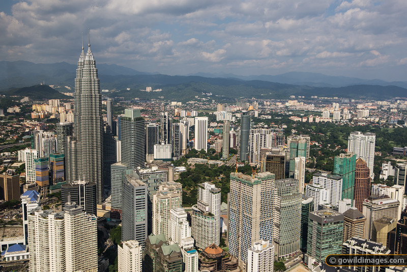 View of Petronas Towers, KL from KL Tower