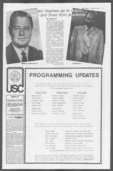 Daily Trojan, Vol. 76, No. 65, May 23, 1979