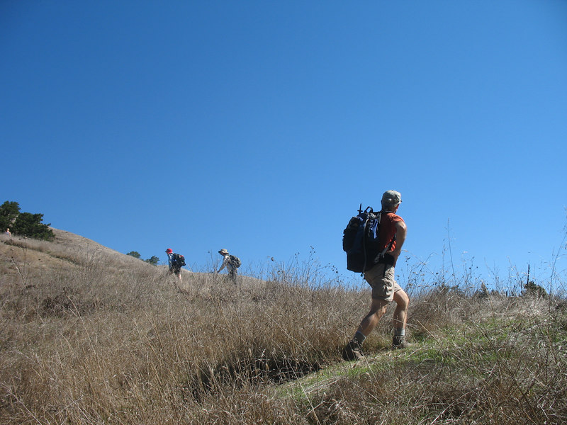 We've reached the open hillside, at about 900' elevation